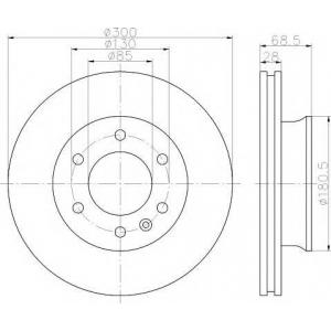Тормозной диск 93143200 textar - MERCEDES-BENZ SPRINTER 3,5-t автобус (906) автобус 318 CDI (906.731, 906.733, 906.735)