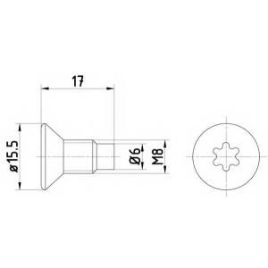 TEXTAR TPM0004 Болт, диск тормозного механизма