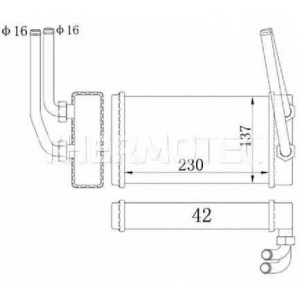 THERMOTEC D6G009TT Радіатор пічки