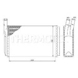 THERMOTEC D6W003TT Радіатор пічки