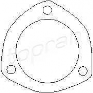 TOPRAN 100187 Exhaust seal