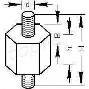 TOPRAN 102744 Кронштейн, топливный насос