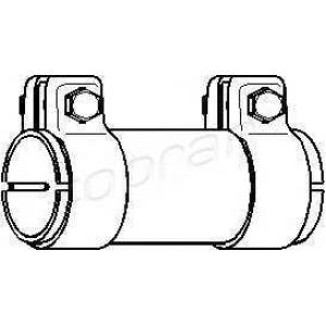 TOPRAN 102753 Exhaust bracket