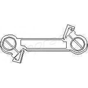 102847 topran Шток вилки переключения передач VW GOLF Наклонная задняя часть 1.6