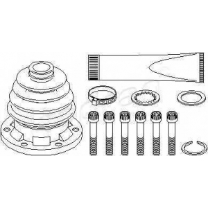 TOPRAN 103227 Half Shaft Boot Kit