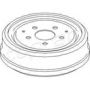 TOPRAN 103281 Brake drum
