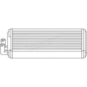 TOPRAN 103705 Радиатор печки A-100