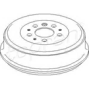 TOPRAN 104083 Brake drum
