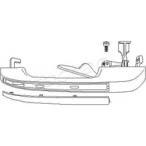 104178 topran Ручка двери AUDI 80 седан 1.3