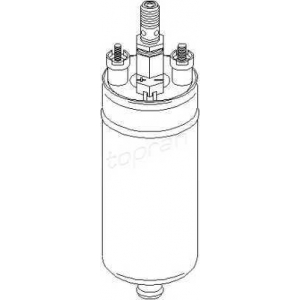 TOPRAN 104364 Fuel pump (outer)