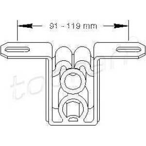 TOPRAN 104401 Exhaust bracket