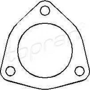 TOPRAN 107201 Exhaust seal