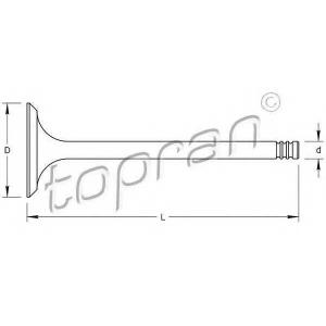 TOPRAN 107554 Клапан головки блока цил.