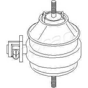 TOPRAN 107 959 Подушка крепления двигателя