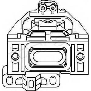 107974 topran Подвеска, двигатель VW GOLF Наклонная задняя часть 1.6