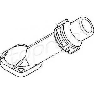 108190 topran Фланец охлаждающей жидкости AUDI A4 седан 1.6