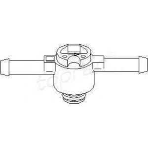 TOPRAN 108 643 Обратный клапан топливного фильтра VW дизель 96-