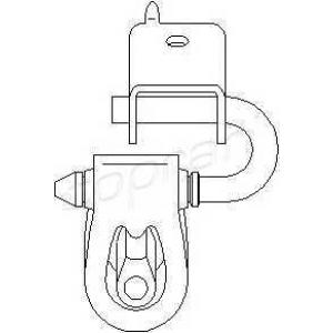 TOPRAN 109052 Exhaust bracket