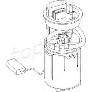 TOPRAN 110581 Fuel pump (outer)