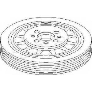 TOPRAN 110960 Belt pulley, crankshaft