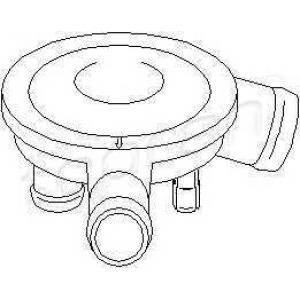 TOPRAN 111 562 Клапан вентиляції картерних газів VAG двиг.1Y,AEY,AHB,AHU,ALE,1Z,AFN,AVG