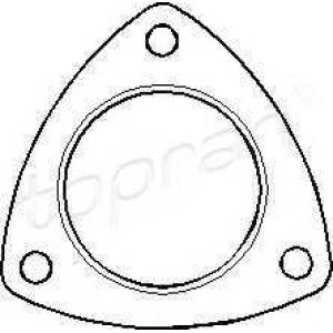 TOPRAN 201 741 Прокладка колектора Opel Kadett 86-/Vectra B 00-