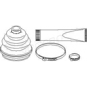 TOPRAN 202423 Half Shaft Boot Kit