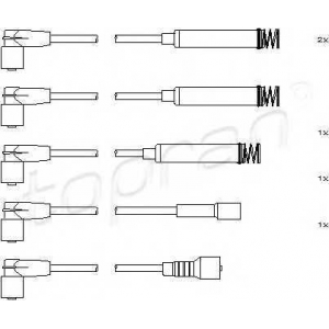 TOPRAN 202518 Ignition cable set