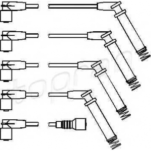TOPRAN 202526 Ignition cable set