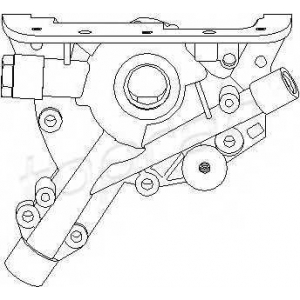 TOPRAN 205585 Oil pump