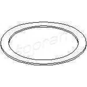 TOPRAN 205643 Exhaust seal