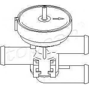 TOPRAN 206 241 Регулирующий клапан охлаждающей жидкости