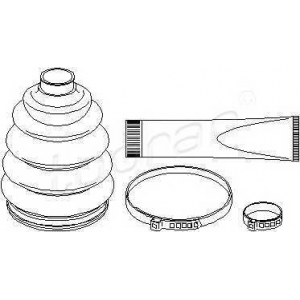 TOPRAN 206488 Half Shaft Boot Kit