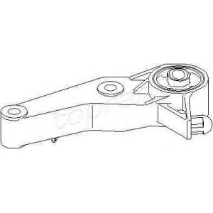 TOPRAN 207754 Подушка двигуна