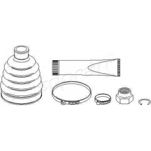 TOPRAN 301245 Half Shaft Boot Kit