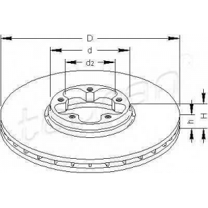 TOPRAN 302334 Brake disc