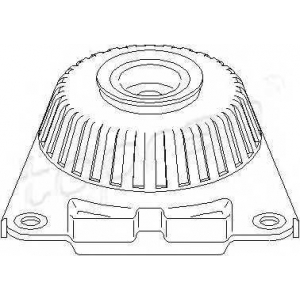 TOPRAN 302 357 Опорна подушка зад. Ford Mondeo III 00-