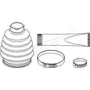 TOPRAN 400717 Half Shaft Boot Kit