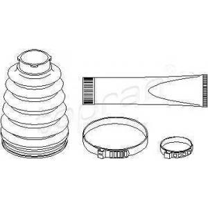 TOPRAN 400726 Half Shaft Boot Kit