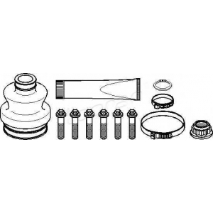 TOPRAN 400727 Half Shaft Boot Kit