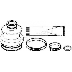 TOPRAN 401236 Half Shaft Boot Kit
