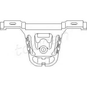 TOPRAN 500176 Exhaust bracket