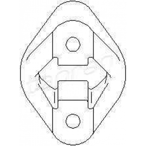 TOPRAN 500180 Exhaust bracket