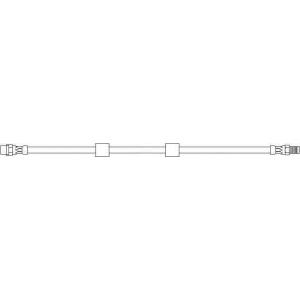 TOPRAN 500197 Rubber brake hose