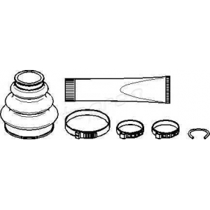 TOPRAN 500585 Half Shaft Boot Kit