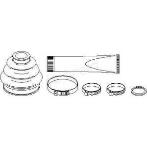 TOPRAN 500592 Half Shaft Boot Kit
