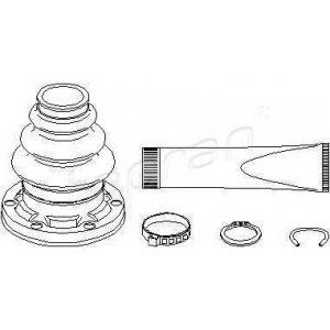TOPRAN 500594 Half Shaft Boot Kit