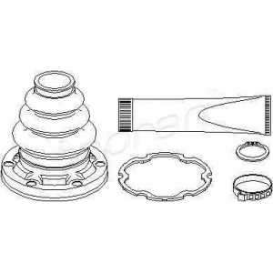 TOPRAN 500595 Half Shaft Boot Kit
