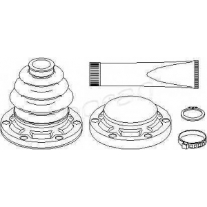TOPRAN 500601 Half Shaft Boot Kit