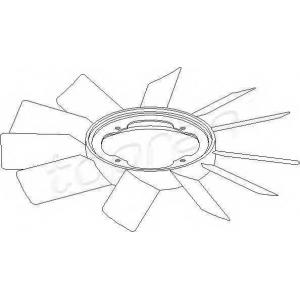 TOPRAN 500 903 Вентилятор радиатора E24 E26 E30